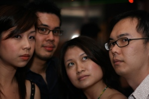 4 posers - not easy to keep a straight face. Soojin - fail lah! Lau, Sooj, Jess, Jack