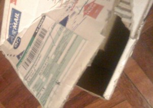 Package torn apart which such eagerness! hehe!