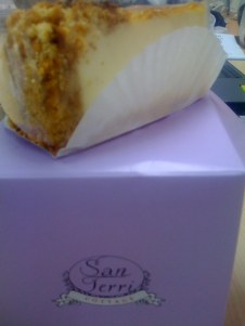 A slice of New York Cheesecake for tea, and the real 'thang' for supper tonight!
