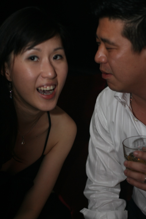 Mr and Mrs Choong - thanks for dividing your time between my party and Wei Keat's, and stayin beyond midnight..
