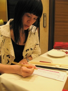 Its a good thing Lin can read mandarin...i would be so useless at ordering...teehee