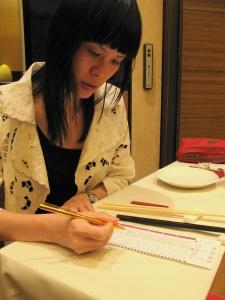 Its a good thing Lin can read mandarin...i would be so useless at ordering...teehee