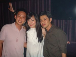 KaiSeng, Me and Jim in Phuture - too many hot chicks. KS salivated on himself??? haha