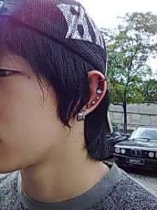 When I saw my golf instructor with my punk, he said...eh can pinjam one ah? And pointed to his ear studs.