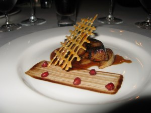 What I guess was one of our favs - foie gras with Fuji Apple with something something sauce.