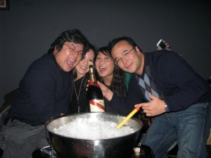 Ron's birthday celebrations on Christmas Eve - at Lounge 18, Three on the Bund