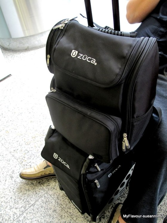 The Zuca in action. Pictured here with the matching laptop carry backpack.
