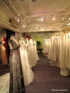 Designer Bridal Room Hong Kong - 4 floors of this! I swear I almost fainted when I first walked in.