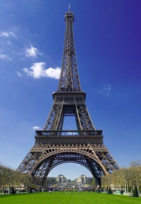 The iconic Eiffel tower. Wait til I photoshop my head into the bottom of this pic!