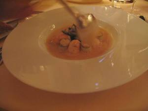 Tiger prawn Bisque. This was super delish. The prawns melt in your mouth. Not exaggerating.