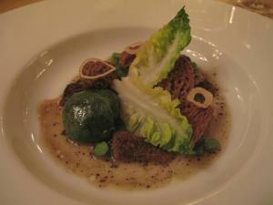 we said this looked like Foo Chuk! Its actually Mushrooms with greens. Cant describe the taste - was very tasty.