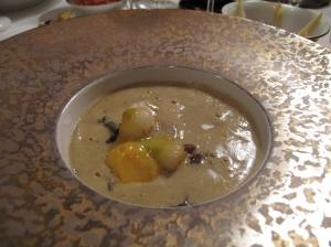My Entree` - mushrooms and baby turnips boiled in pot of herbs for many hours before being put into this dish, and doshed with Foie Gras soup!!!!!