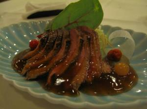 Sliced duck breast - so yummy and tender