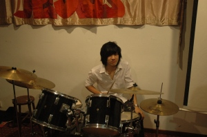 Our Vern the talented - he just started learning drums