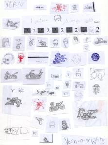 Vern's doodling - compiled, cut and pasted by Vern's ACE mates