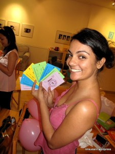 Kristin and the completed Wish Coupons for Winnie